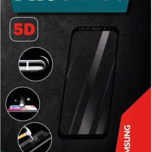 ProGlass 5D beskyttelseglas til Samsung i farven sort, som går helt ud til kanten
