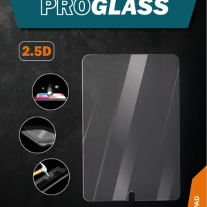 ProGlass 2.5D beskyttelsesglas i klar glas til iPad, som kun dækker skærmen af iPad 'en